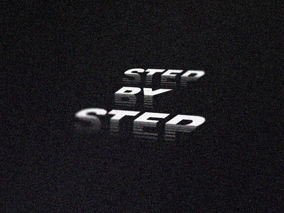 Step by Step // Corners 13/15 - Logolounge 2020 ⠀ stair stairway typography corners facet geometric step by step elevation progress walk walking path steps step corner
