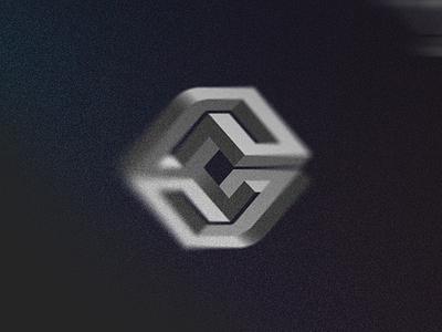 C ya, letter! // Letter Illusions 14/15 - Logolounge 2020 impossible facets gradient light shadows perspective block box geometry escher illusion letter c 3d geometric