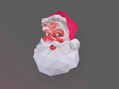 POLY XMAS, dribbblers! christmas poly lowpoly santa santa claus papai noel natal xmas spend money yay