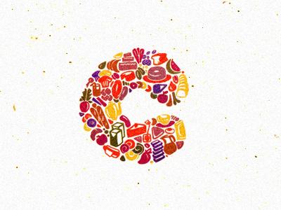 C Logo food deli restaurant c cake bread fruits brazil brand brand identity branding brasil design design studio identidade de marca identidade visual identity logotipo logotype breno bitencourt breno bitencourt visual identity bauru logodesign logodesigner featured logo