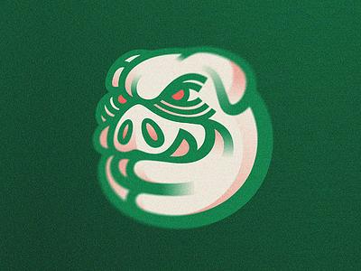 Porco Loko verdão animal mascot green soccer swine crazy pig porco palmeiras
