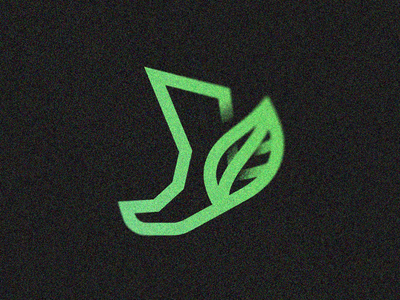 Green Delivery nature leaf ecological footprint logo run forest fast mythology myth mercury hermes foot eco ecology delivery green
