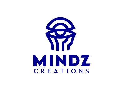 Mindz meditation inner senses eye creativity creation mindfullness open mind head abstract logo creative design knowledge brain think thinking minds mind creative