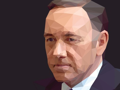 Frank Underwood // Low Poly Screencast lowpoly geometric polygon poly kevin spacey frank underwood house of cards screencast process