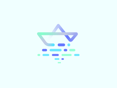 Code Atlas // Logo Concept origami paper line starship html javascript python programming star of david mirror language semiotics code computing seo boat sea logodesign corporate id coding