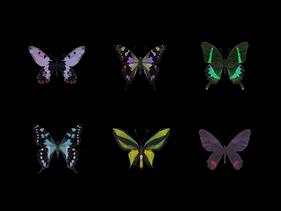 ƸӜƷ _ #BBfly _ NFT COLLECTION _ #001 to #006 rarible opensea hic et nunc nft collection collection collectibles crypto currency cryptocurrency tezos ethereum crypto art crypto cryptoart low poly lowpoly wing insect butterfly nftart nft