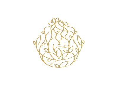 Moment of Creativity Logo handmade crystal energy peace logo ornamental stone gem jewlery spirit chakra leaf simple organic yoga female artist art handcraft