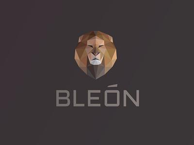 Bleón Logo león lion logo polygon lowpoly facets triangulation delaunay mane geometric