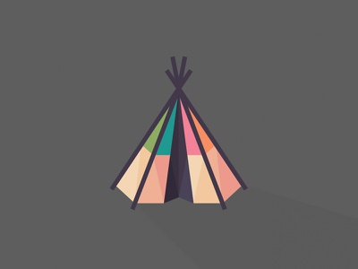 Tribe Teepee Logo teepee tribe indian geometric triangles tent