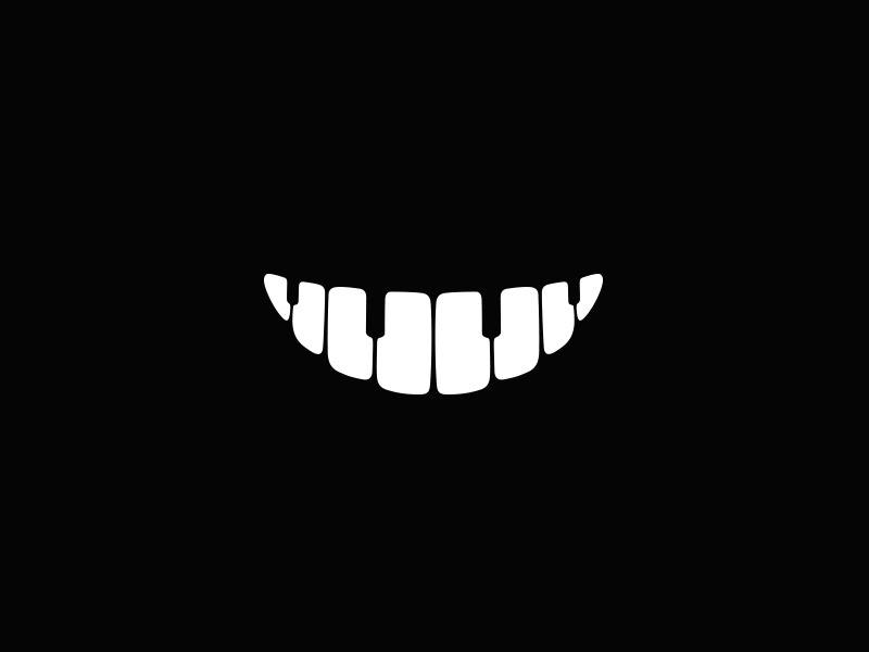 Music Smile Logo music piano smile teeth dental braces musical
