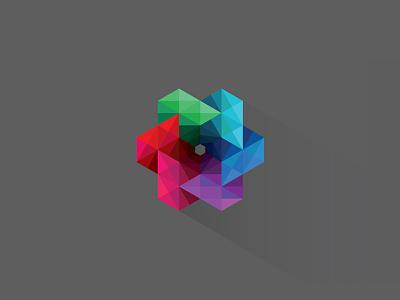 Work Flow-er icon workflow flower spiral vortex poligon triangle colors