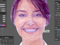Asian lowpoly portrait