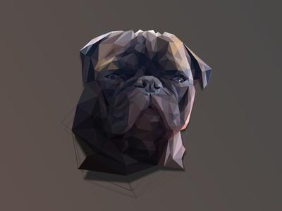 Low Poly Illuminati Edgar @pewdiepie illuminati lowpoly pug edgar pewdiepie lopoly geometric polygon facets mesh portrait profile