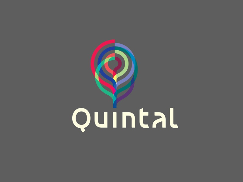 Quintal Logo 2   q furniture triangles polygon wireframe backyard brain