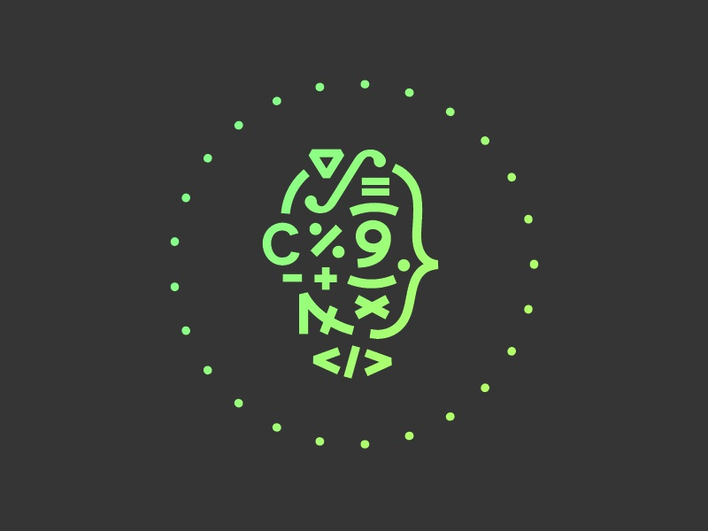 Kodroid Logo code android head math glyph number