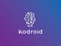 Kodroid Logo code android head math glyph number type