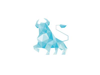 Lowpoly Blue Bull logo