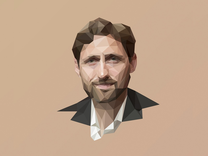 Phil Klay  colors magazine author lowpoly portrait lopoly lowpoly