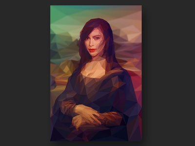 La Gioconda / Kim Kardashian davinci painting renaissance mona lisa la gioconda kim kardashian portrait lowpoly