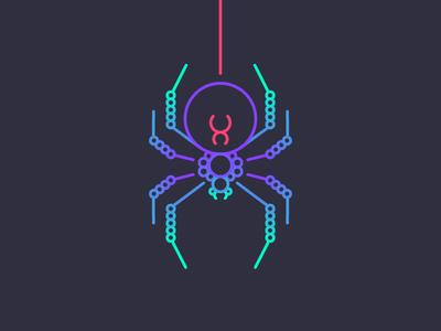 Spider circles colors elo corrente widow black aranha chain spider