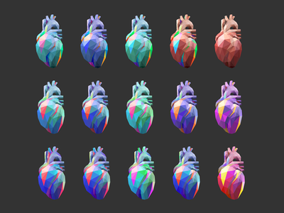 Heart coloring human body rainbow cold colors color heart