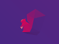 Squirrel #lowpoly