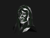 Alex Kay Potter _ Lowpoly portrait
