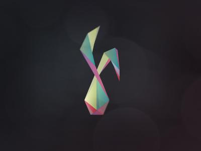 Rabbit Easter Egg Logo rabbit easter egg facets origami triangles páscoa coelho logo coelho logo bunny