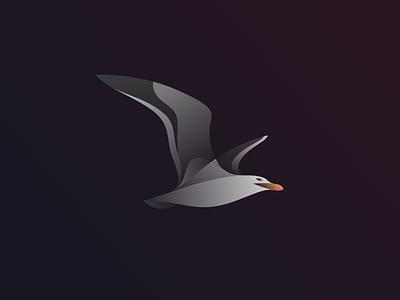 Gaviota illustration beach wings bird gaviota sea gaivota seagull