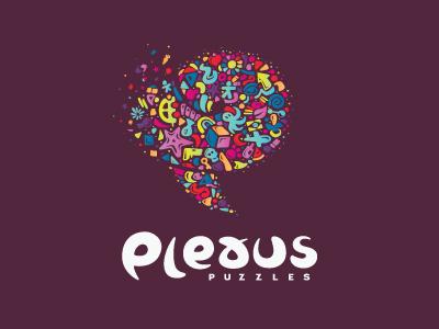 Plexus Puzzles Logo game puzzles plexus online breno bitencourt logo type fluffy brand brand identity branding brasil brazil design design studio identidade de marca identidade visual identity logotipo logotype breno bitencourt visual identity bauru logodesign logodesigner featured