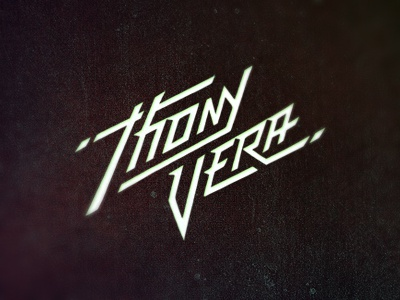 Thony Vera Logo thony vera dj producer music electro house techno ibiza spain triangles type typography logo design