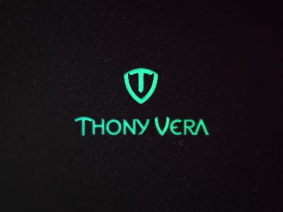 Thony Vera Logo thony vera dj producer music electro house techno ibiza spain triangles type typography logo design