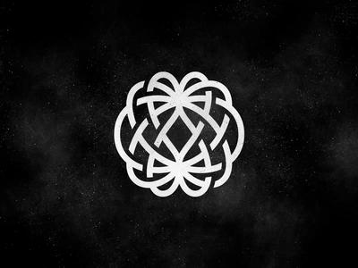 Dreamland Digital magnetic mesh nest lines heart globe process symbol logo wip land dream dreamland