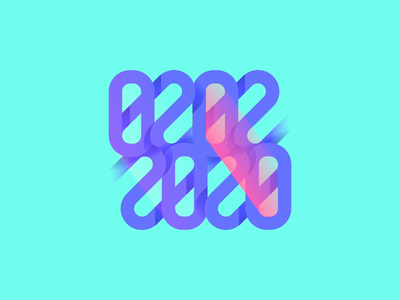02022020 digital type typography time present gradient shaddows lights turn flip palindrome ambigram date number logo