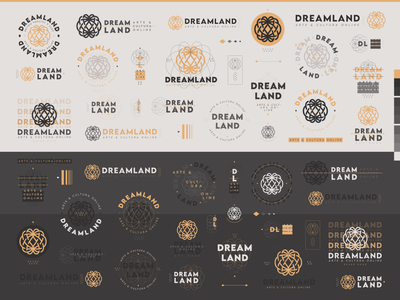 Dreamland - Logo Compositions art digital young communication line connected globe culture online identity usage typography mark logo dreamland land dream