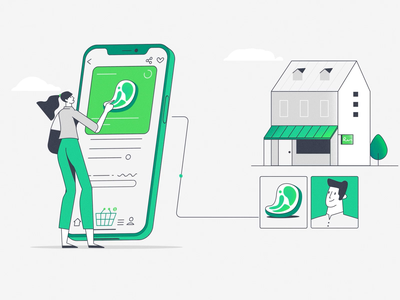 OneFood - Supp local producers 🍏🥦🍾 merchants butcher local producers local farmer grocery shop groceries people building online shopping online buy apple producer phone home animation 2d aftereffects motion motion graphics animation