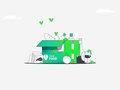 OneFood - Get products from your fav local Shops 🛍️🎉🍾 download fruit download app hand app download. green illustration flat animation 2d aftereffects motion animation apple wine box local shop local merchants quality products