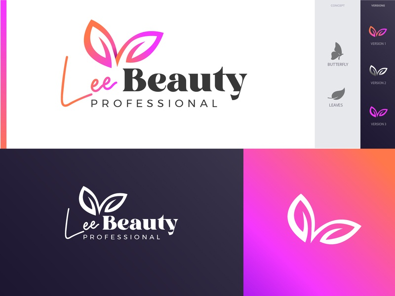 Lee Beauty Logo logotype brand identity icon illustration typography logo modern beauty logo design logo branding logo design