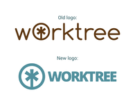 Logo redesign for Worktree