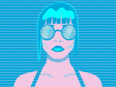 Summer Bangs repurposed illustration