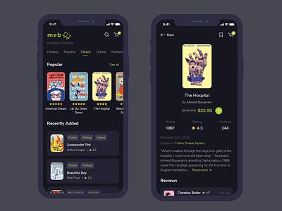 Meb mobile e-book mobile design mobile ui prototypes app design ux ui