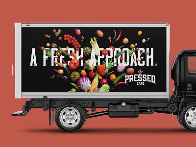 Pressed - Truck Wrap fresh wrap truck coffee cafe branding identity design logo
