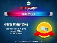 4 Girls under 55kg