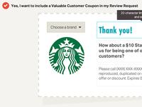WebPunch customer coupon