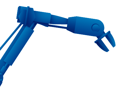 Assembly robot robot illustration work in progress arm claw vector blue four clouds