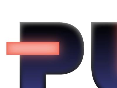 Pulse Rider logo neon 80s retro faux logo fauxgo