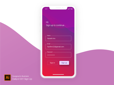Dailyui 001 Sign Up