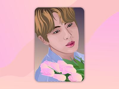 BTS Jin world wide handsome jin jin design bts design face illustration illustrator