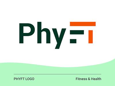 logo flat vector branding design illustrator typography health fitness logo design logotype logo
