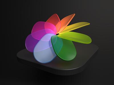 MacOS_Apple_Dark Theme_Composition Photos arnoldrender illustration modeling cinema4d c4d 3d